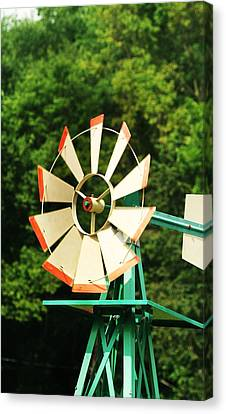 Metal Windmill Canvas Print by Christopher Hoffman
