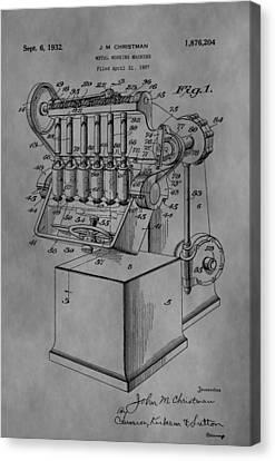 Metal Working Machine Canvas Print