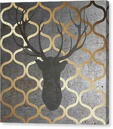 Metallic Deer Nature Canvas Print by Andi Metz