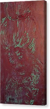 Metallic Geisha  Canvas Print