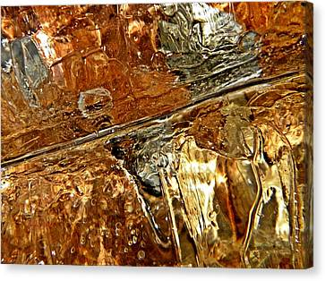 Metallic Ice Canvas Print by Chris Berry