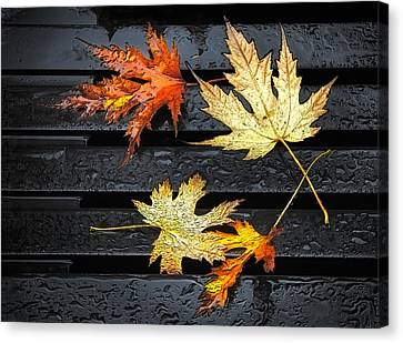 Metallic Leaves Canvas Print