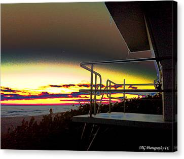 Metallic Sunrise Canvas Print by Marty Gayler