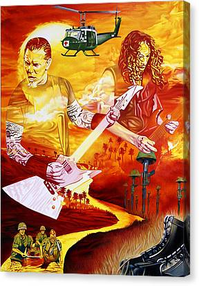 Metallica-one Canvas Print by Joshua Morton