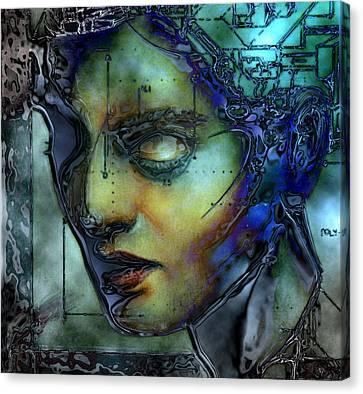Digital Madonna Canvas Print