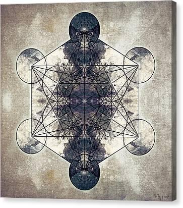 Metatron's Cube 014b Canvas Print by Filippo B