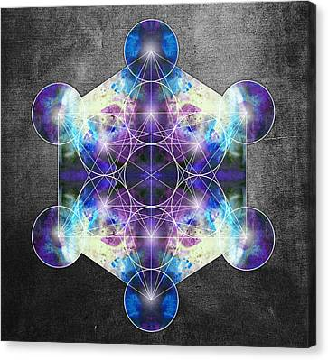 Metatron's Cube Blue Canvas Print by Filippo B