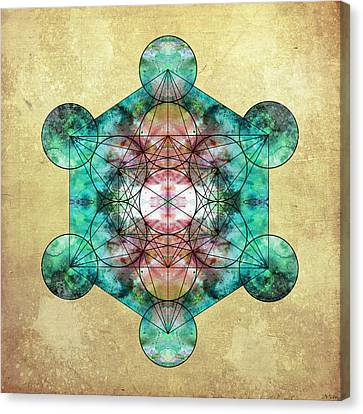 Metatron's Cube Canvas Print by Filippo B