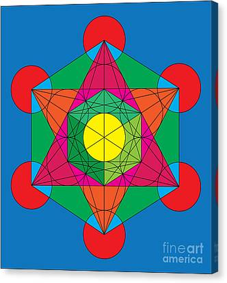 Metatron's Cube In Colors Canvas Print