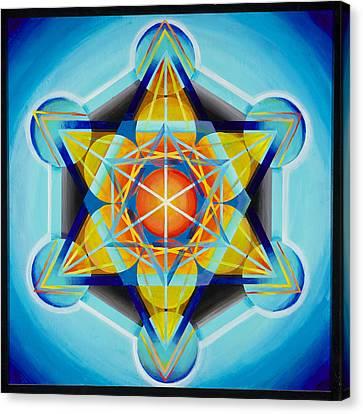 Metatron's Cube Canvas Print by Morgan  Mandala Manley