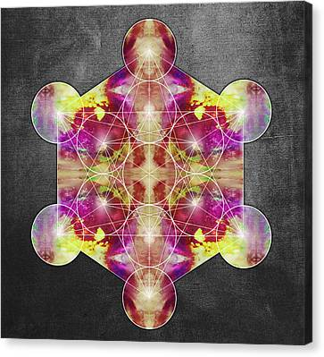 Metatron's Cube Red Canvas Print by Filippo B
