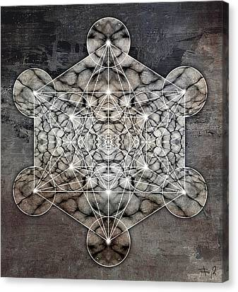 Metatron's Cube Rocky Canvas Print by Filippo B