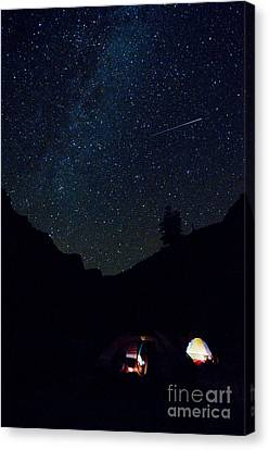 Meteor And Milky Way Canvas Print by William H. Mullins