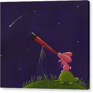 Astronomy Canvas Print - Meteor Shower by Christy Beckwith