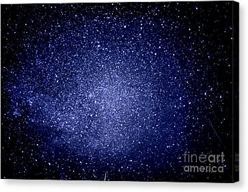 Meteors And  Milky Way Canvas Print by Thomas R Fletcher