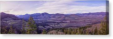 Methow Valley Canvas Print - Methow River Valley Via Sun Mtn Lodge by Omaste Witkowski