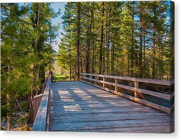 Methow Valley Community Trail At Wolf Creek Bridge Canvas Print