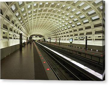 D.c. Canvas Print - Metro Station In Suburban Washington, D by Christopher Reed
