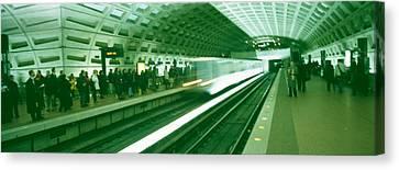 Metro Station Washington Dc Usa Canvas Print