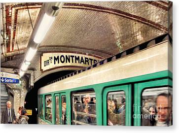 Canvas Print featuring the photograph Metro To Montmartre. Paris   by Jennie Breeze