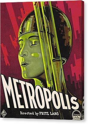 Metropolis Film Poster Canvas Print by German School