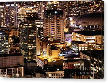 Canvas Print featuring the photograph Metropolis Vancouver Mdccxv  by Amyn Nasser