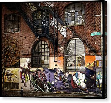 Metropolitan Avenue Graffiti Canvas Print