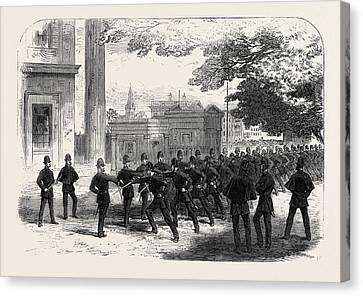 Metropolitan Police Learning The Cutlass Exercise Canvas Print by English School