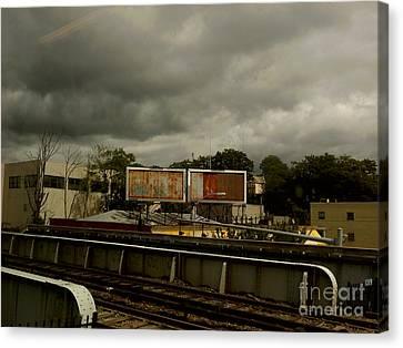 Canvas Print featuring the photograph Metropolitan Transit by Miriam Danar