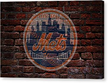 Centerfield Canvas Print - Mets Baseball Graffiti On Brick  by Movie Poster Prints