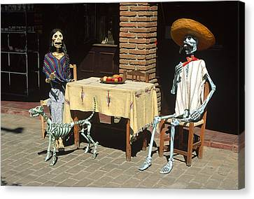 Mexican Antique Family Canvas Print by Roderick Bley