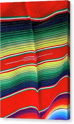 Mexican Fabric, Playa Del Carmen Canvas Print