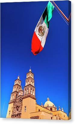 Dolores Canvas Print - Mexican Flag, Parroquia Catedral by William Perry
