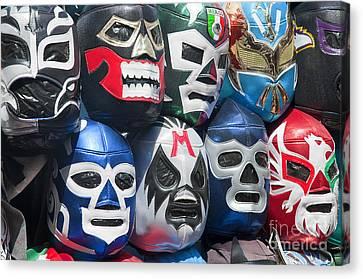 Mexican Head Masks Canvas Print