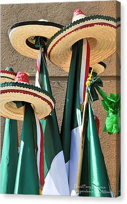 Mexican Independence Day - Photograph By David Perry Lawrence Canvas Print by David Perry Lawrence