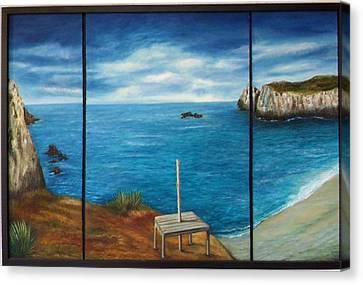 Mexican Ocean Beach  Canvas Print by Nora Vega
