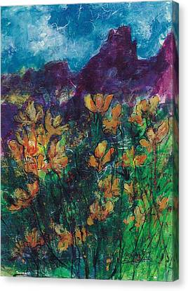 Mexican Poppies Canvas Print