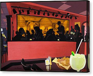 Mexican Restaurant Canvas Print by Clifford Faust