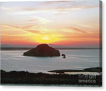 Canvas Print featuring the photograph Mexican Riviera Sunset by Gena Weiser