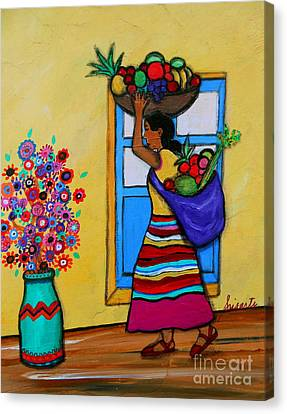 Mexican Street Vendor Canvas Print