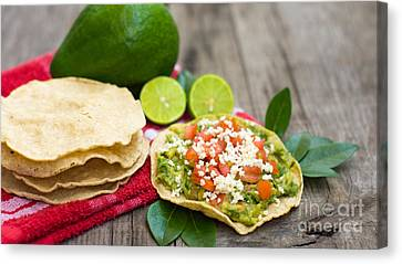 Mexican Tostadas Canvas Print by Aged Pixel