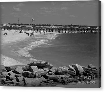 Mexico Beach Florida Canvas Print by Debra Forand