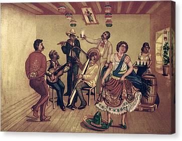 Mexico: Hat Dance Canvas Print by Granger