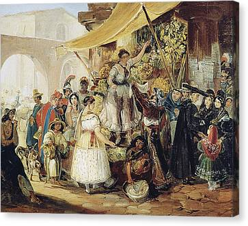 Mexico Market, 1833 Canvas Print by Granger
