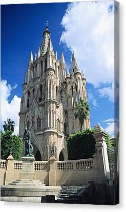 Mexico, View Of Parroquia Church San Canvas Print