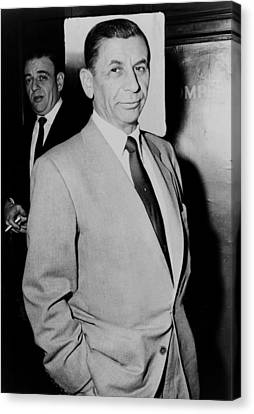 Meyer Lansky - The Mob's Accountant 1957 Canvas Print