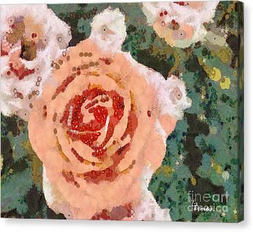 Alameda Meyers House Garden Klimt Rose Canvas Print by Linda Weinstock