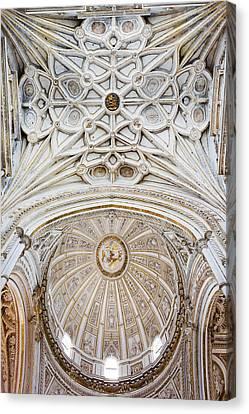 Mezquita Cathedral Ceilings In Cordoba Canvas Print by Artur Bogacki