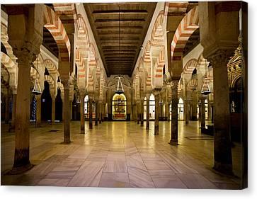 Mezquita Interior In Cordoba Canvas Print by Artur Bogacki
