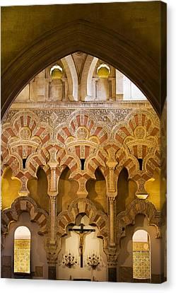 Mezquita Interior Islamic Architecture Canvas Print by Artur Bogacki